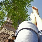 my feet and the Eiffel Tower