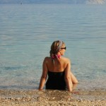 On the beach of Baška, Krk, Croatia
