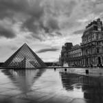 The Louvre in the rain, Paris