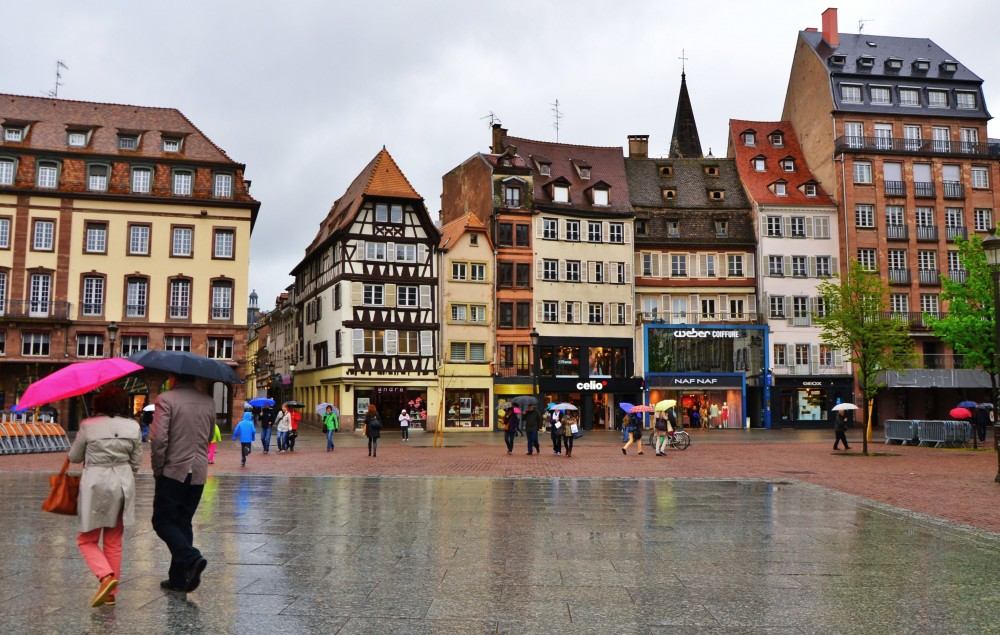 Strasbourg in the rain