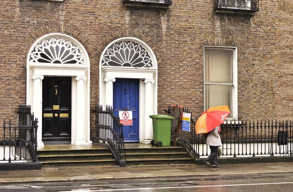 Georgian Dublin in the rain, Ireland
