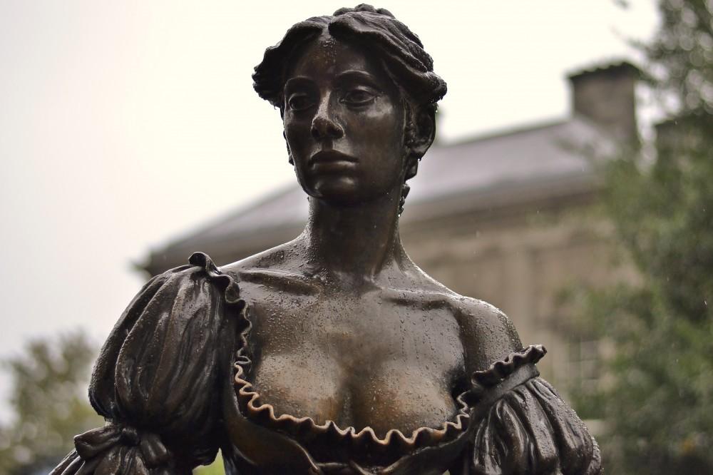 Molly Malone statue in Dublin, Ireland