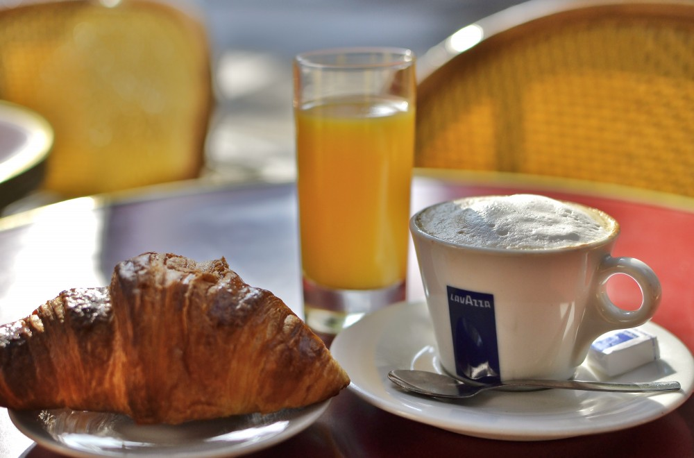 Solo breakfast in Paris