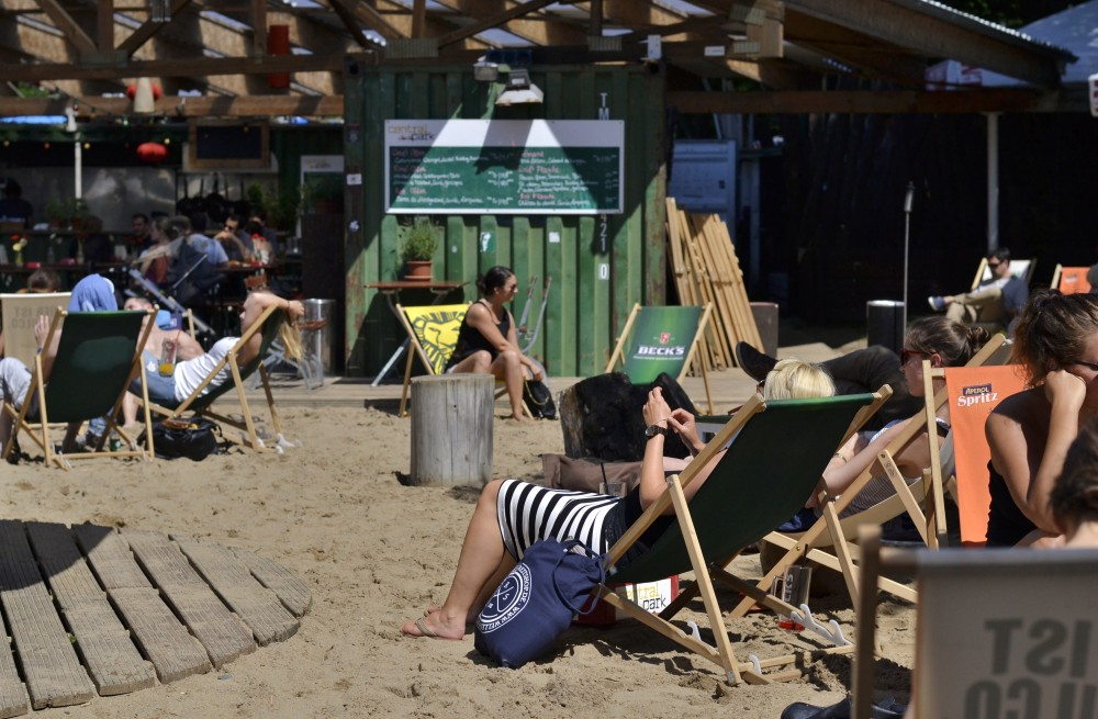 Beach bar in Hamburg, Germany