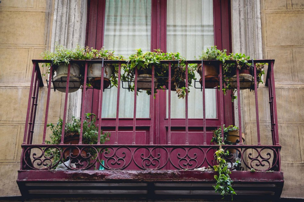 Balcony in Madrid, Spain
