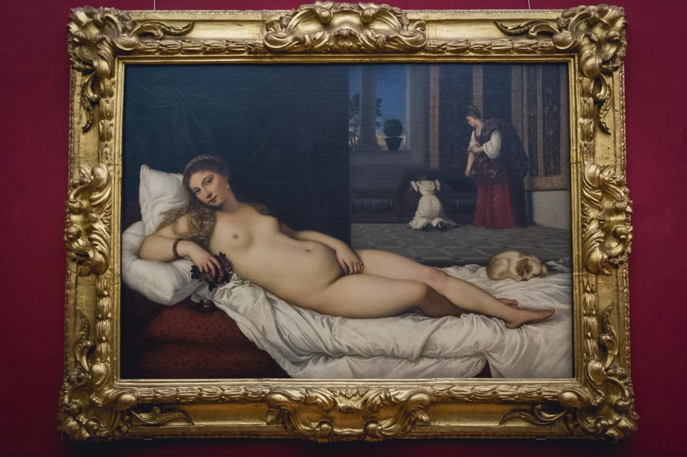Titian in the Uffizi Gallery in Florence, Italy