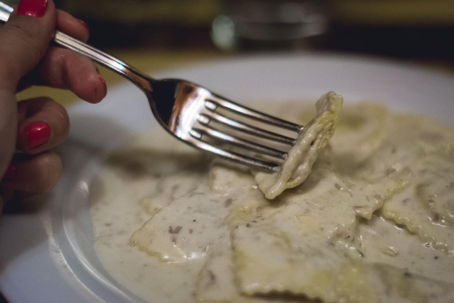 Pasta at Pensavo Peggio in Florence, Italy