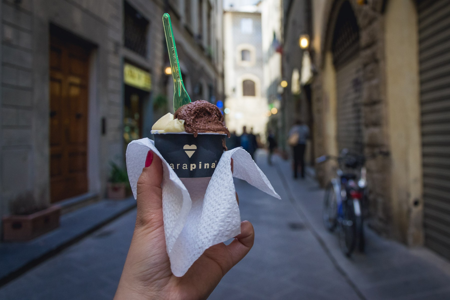 Carapina gelato in Florence, Italy