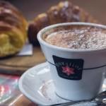 Caffè cornetto in Florence, Italy