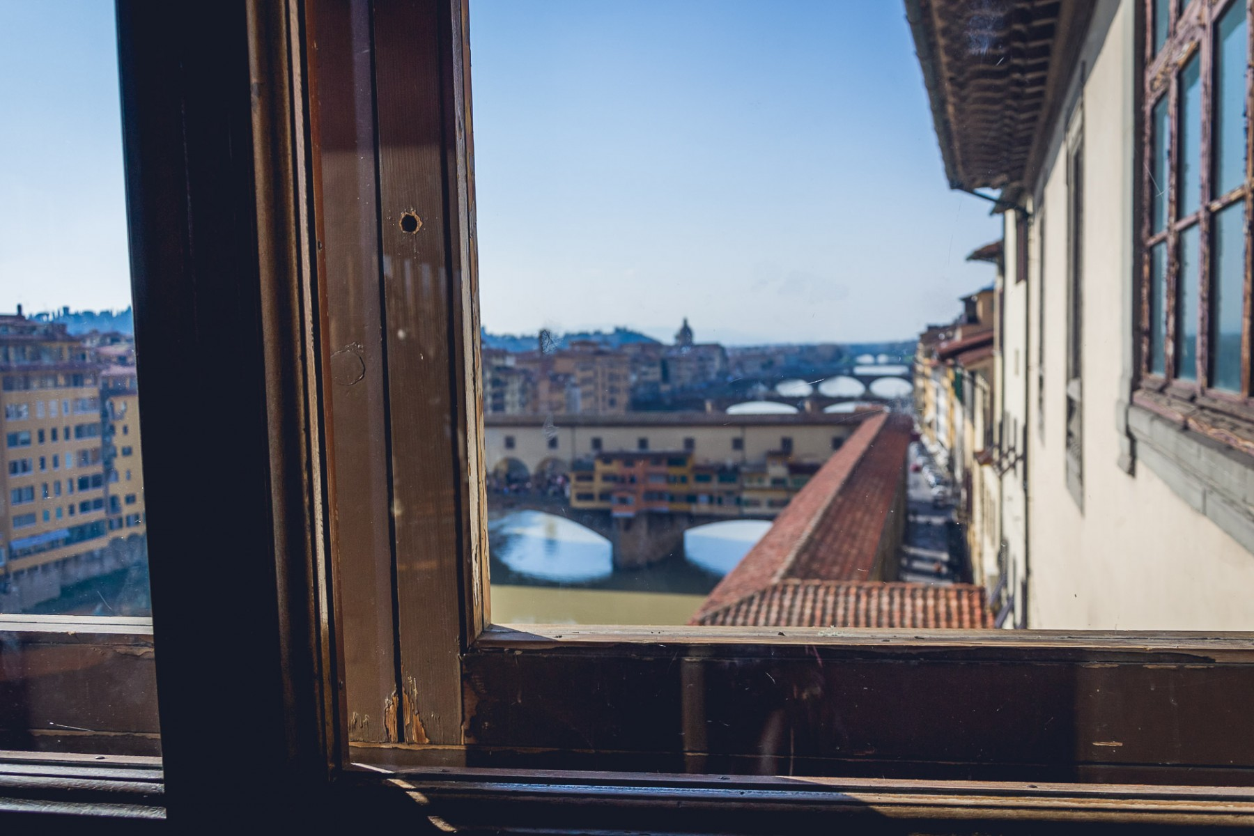 View from the Uffizi Gallery, Florence, Italy