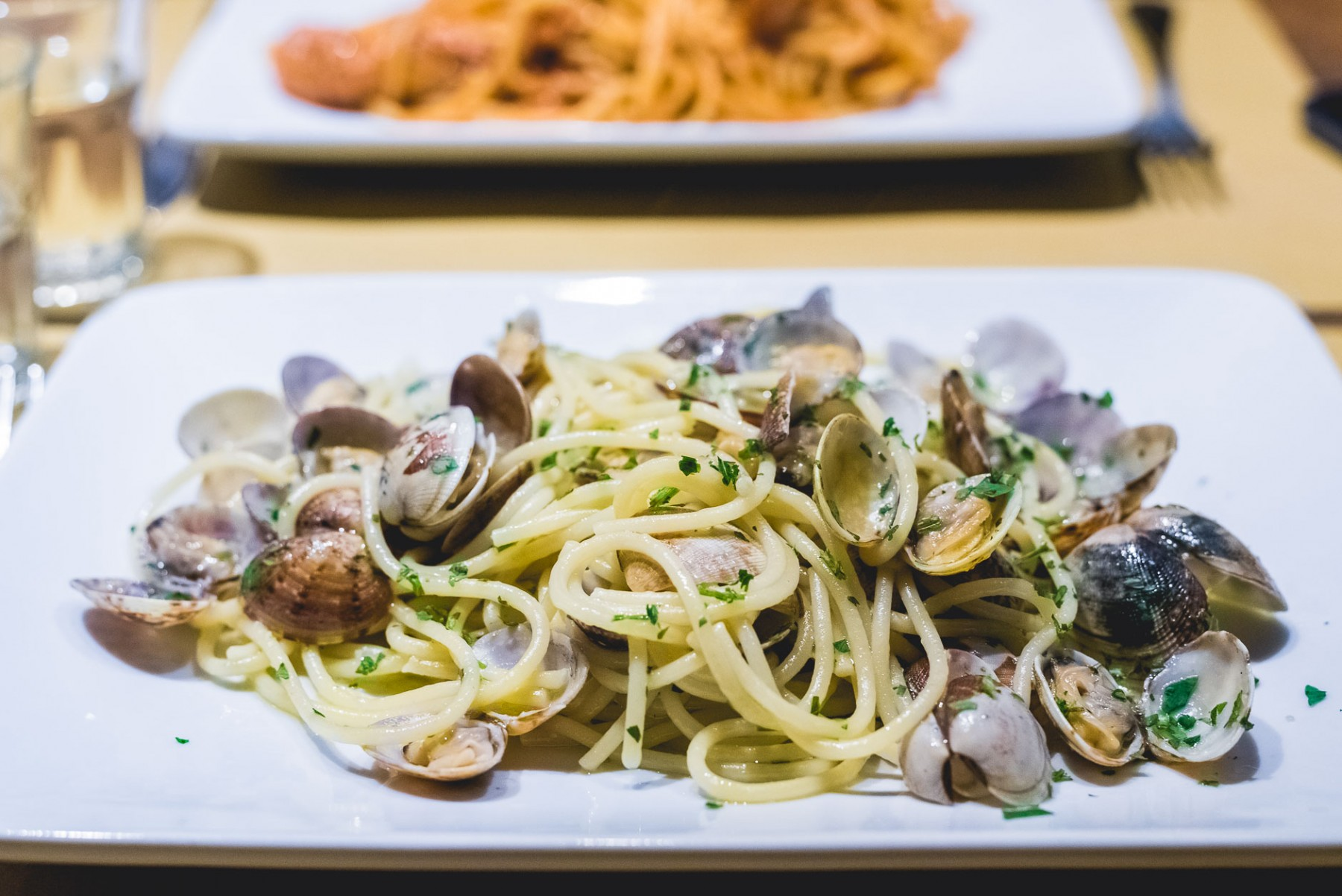 Seafood pasta in Venice, Italy