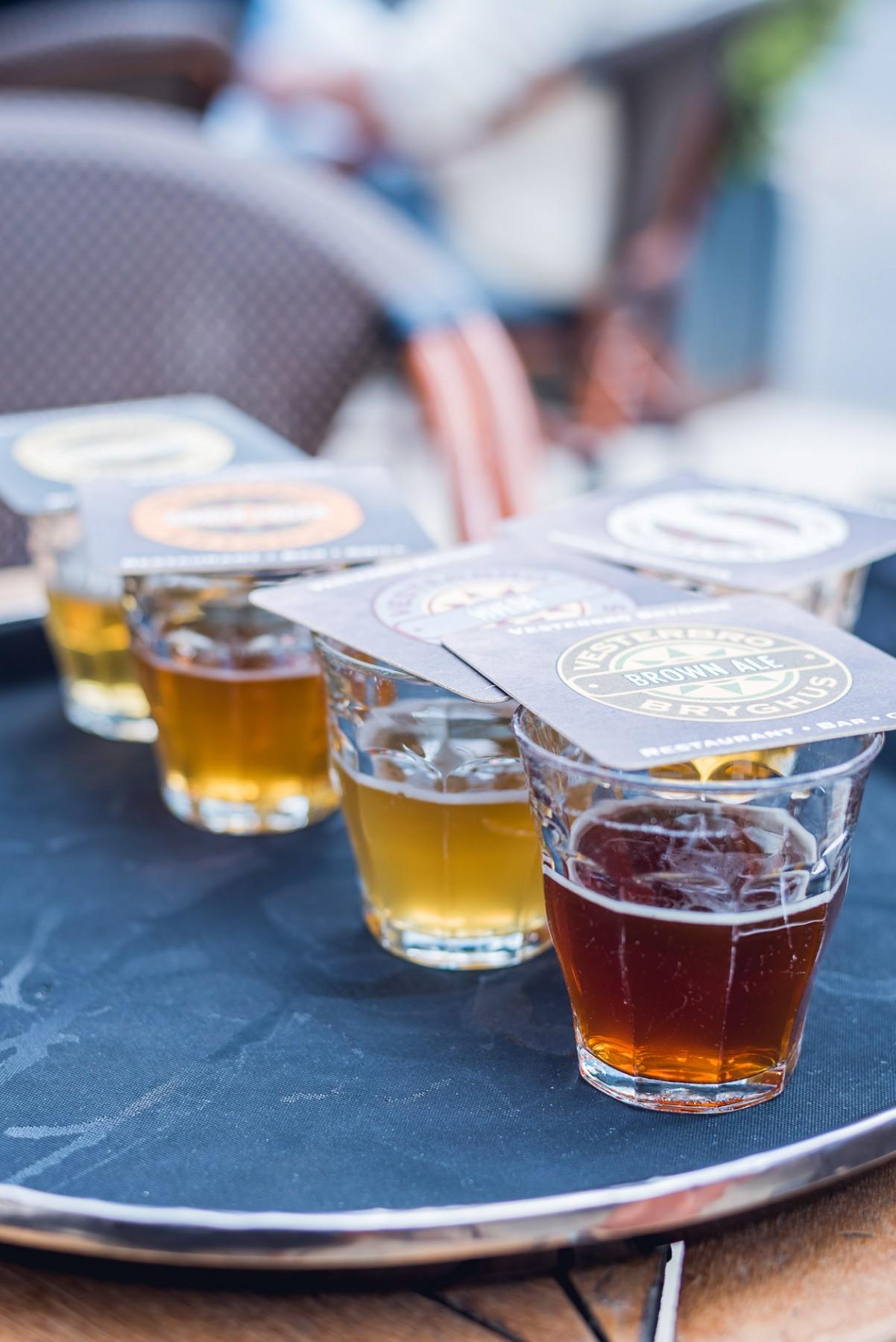 Beer tasting in Copenhagen, Denmark