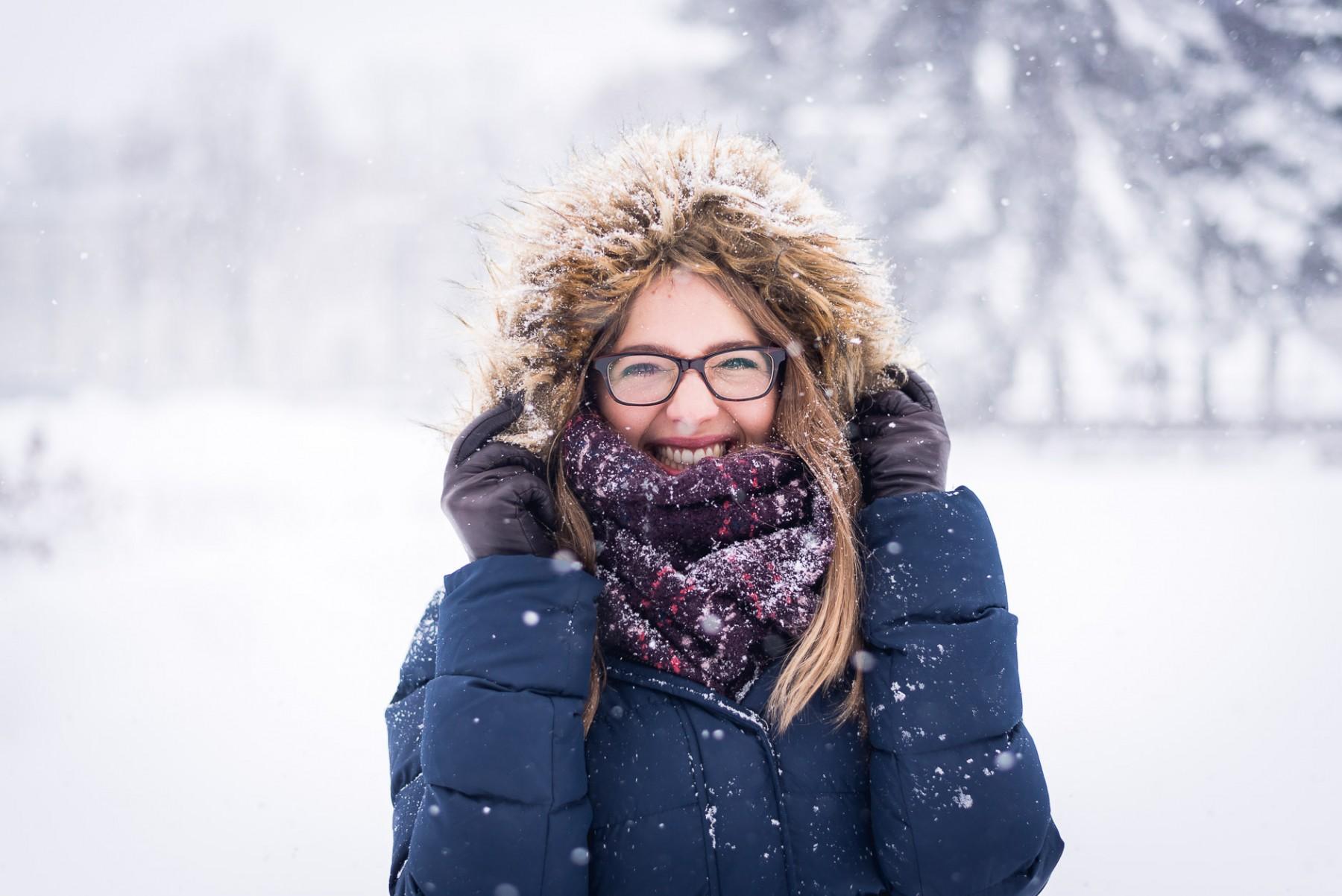 Snowy Riga, Latvia in January